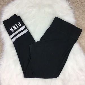 Victoria's Secret PINK Black Leggings Size Large